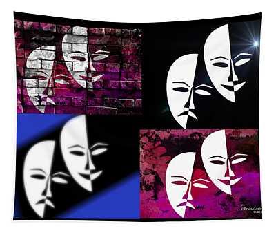Thalia And Melpomene Tapestry