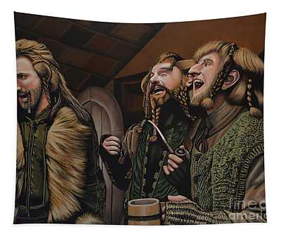 The Hobbit And The Dwarves Tapestry
