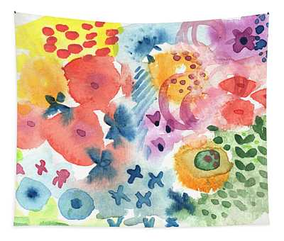 Watercolor Garden Tapestry