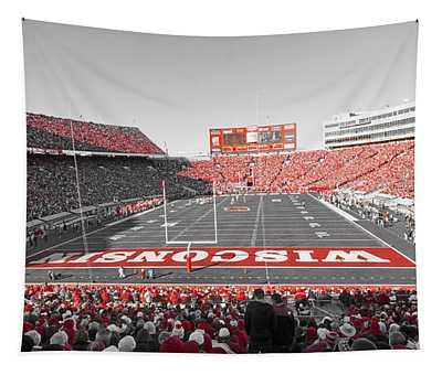 0095 Badger Football  Tapestry