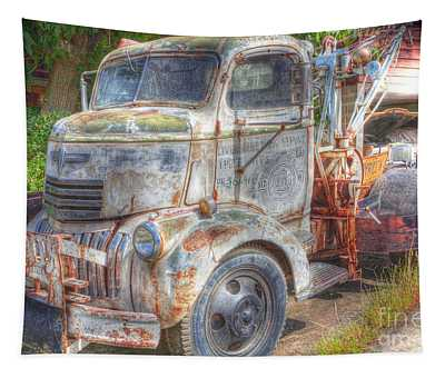 0281 Old Tow Truck Tapestry