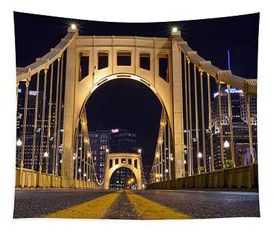 0304 Roberto Clemente Bridge Pittsburgh Tapestry