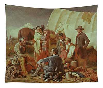 Advice On The Prairie  Tapestry