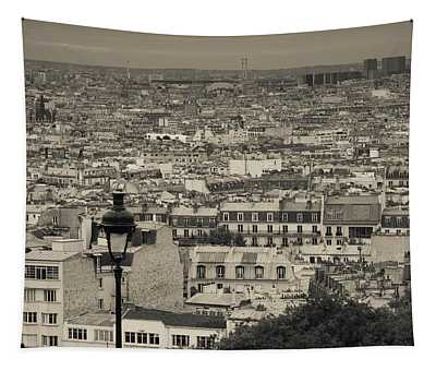 Aerial View Of A City Viewed Tapestry