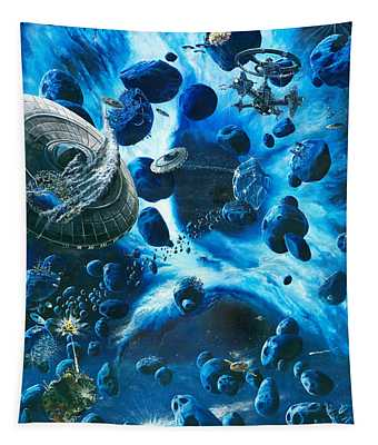 Alien Pirates  Tapestry