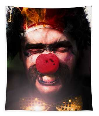 Angry The Clown Tapestry