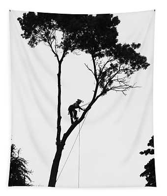 Arborist At Work Tapestry