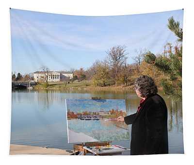 Artist At Work Buffalo Tapestry