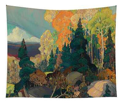 Autumn Hillside Tapestry