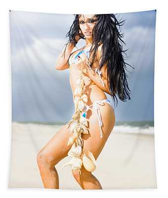 Beauty And The Beach Tapestry