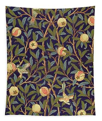 Bird And Pomegranate Tapestry