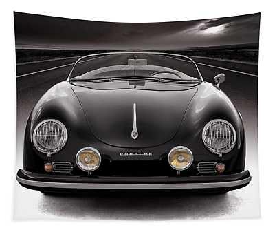 Black Porsche Speedster Tapestry