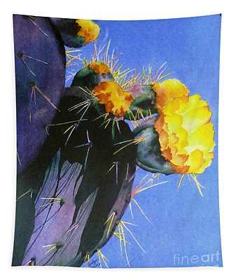 Blooming Cactus Tapestry