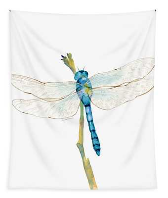 Blue Dragonfly Tapestry