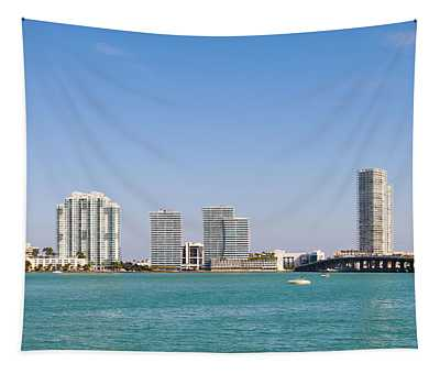Buildings At The Waterfront, Miami Tapestry