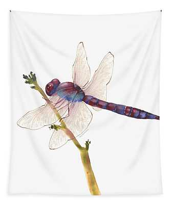 Burgundy Dragonfly  Tapestry