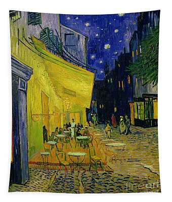 Cafe Terrace Arles Tapestry