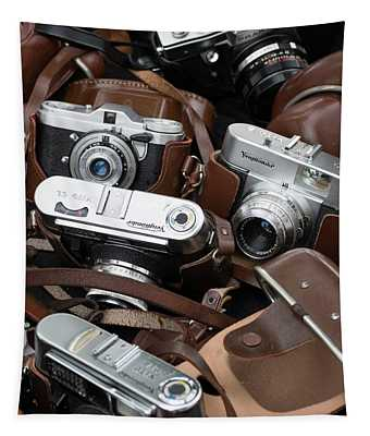 Cameras For Sale At Flea Market Tapestry