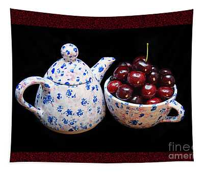 Cherries Invited To Tea 2 Tapestry