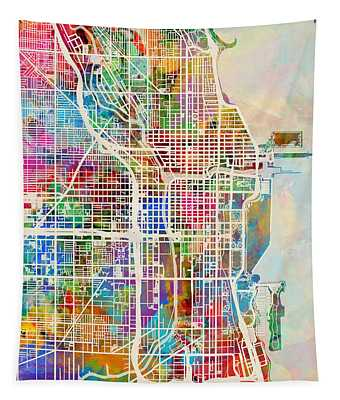 United States Map Wall Tapestries
