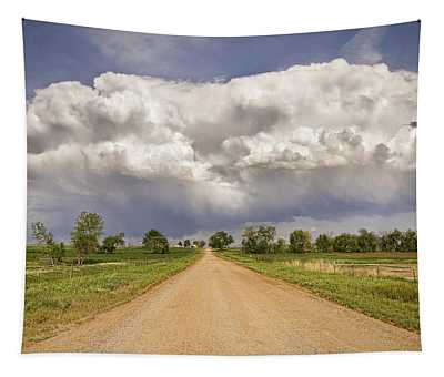 Colorado Country Road Stormin Skies Tapestry