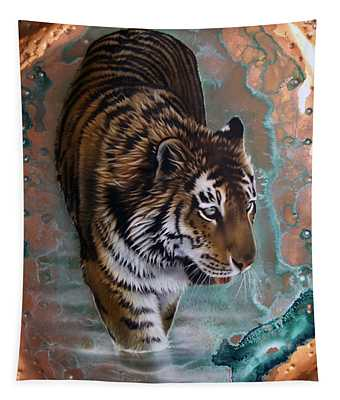 Copper Tiger I  Tapestry