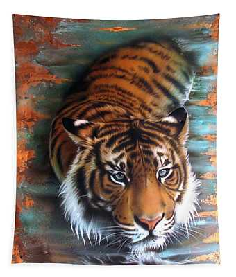 Copper Tiger II Tapestry
