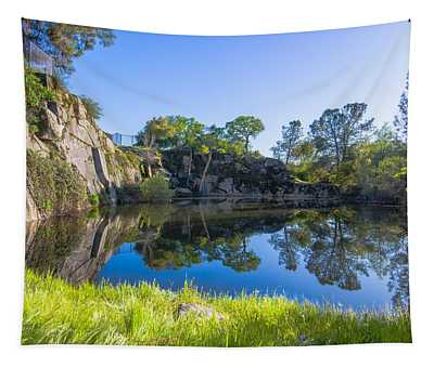 Tapestry featuring the photograph Copp's Quarry by Jim Thompson