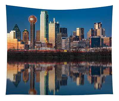 Dallas Skyline Tapestry