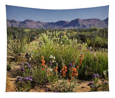 Desert Wildflowers Tapestry