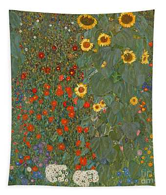 Farm Garden With Sunflowers Tapestry