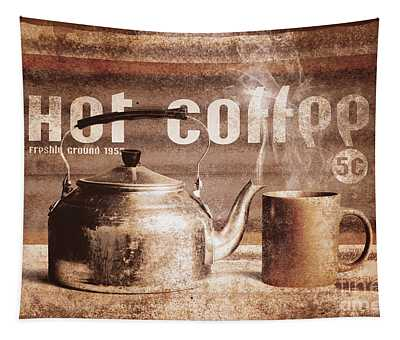 Fine Art Coffee Shop Tin Sign Insignia Tapestry
