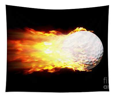 Flame Golf Ball Tapestry