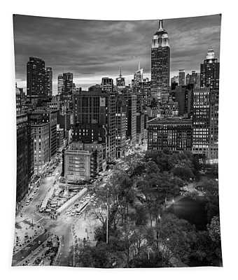 Flatiron District Birds Eye View Tapestry