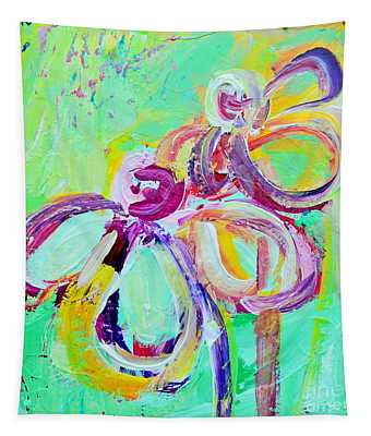 Abstract Flowers No 10 Tapestry