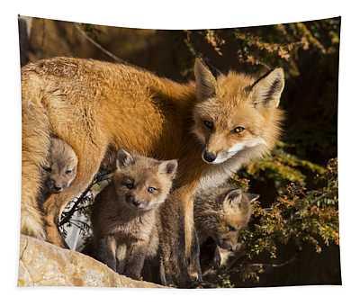Fox Family Tapestry