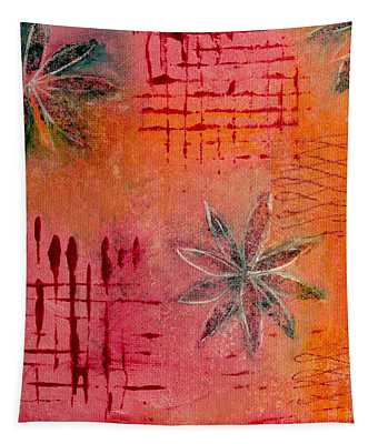 Fun Flowers In Pink And Orange 3 Tapestry