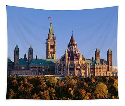 Government Building On A Hill Tapestry