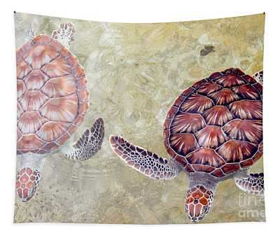Green Turtles Tapestry