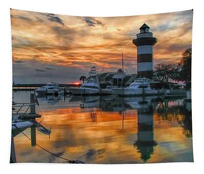 Harbour Town Sunset Tapestry