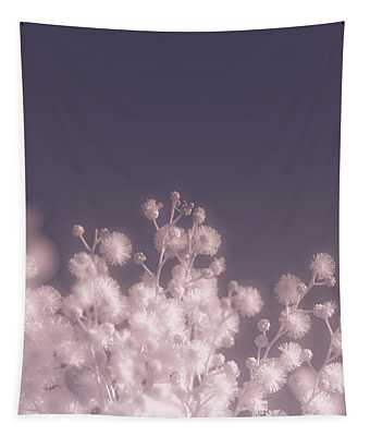 Infrared Nature Bloom Tapestry