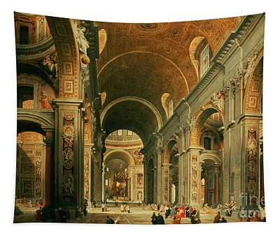 Interior Of St Peters In Rome Tapestry