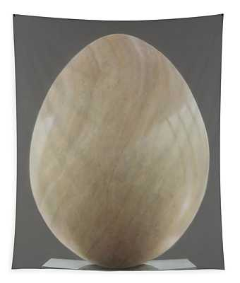 Jade Egg, 2012 Acrylic On Canvas Tapestry