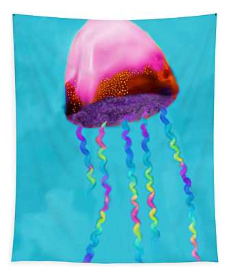 Jelly The Fish Tapestry