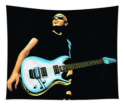 Joe Satriani Painting Tapestry