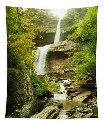 Kaaterskill Falls In Autumn, New York Tapestry