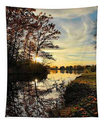 Lake Wausau Sunset Tapestry