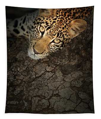 Leopard Portrait Tapestry