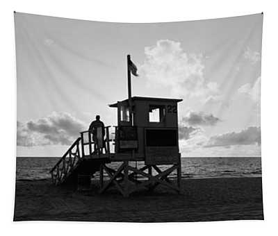 Lifeguard Hut On The Beach, 22nd St Tapestry