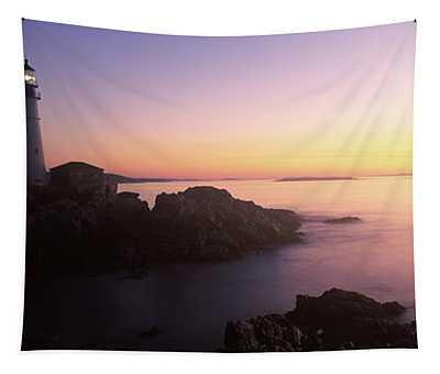 Lighthouse On The Coast, Portland Head Tapestry
